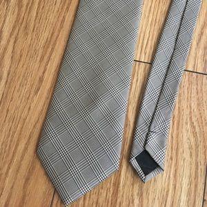 Romario Manzini Glen Plaid Tie Italian Silk
